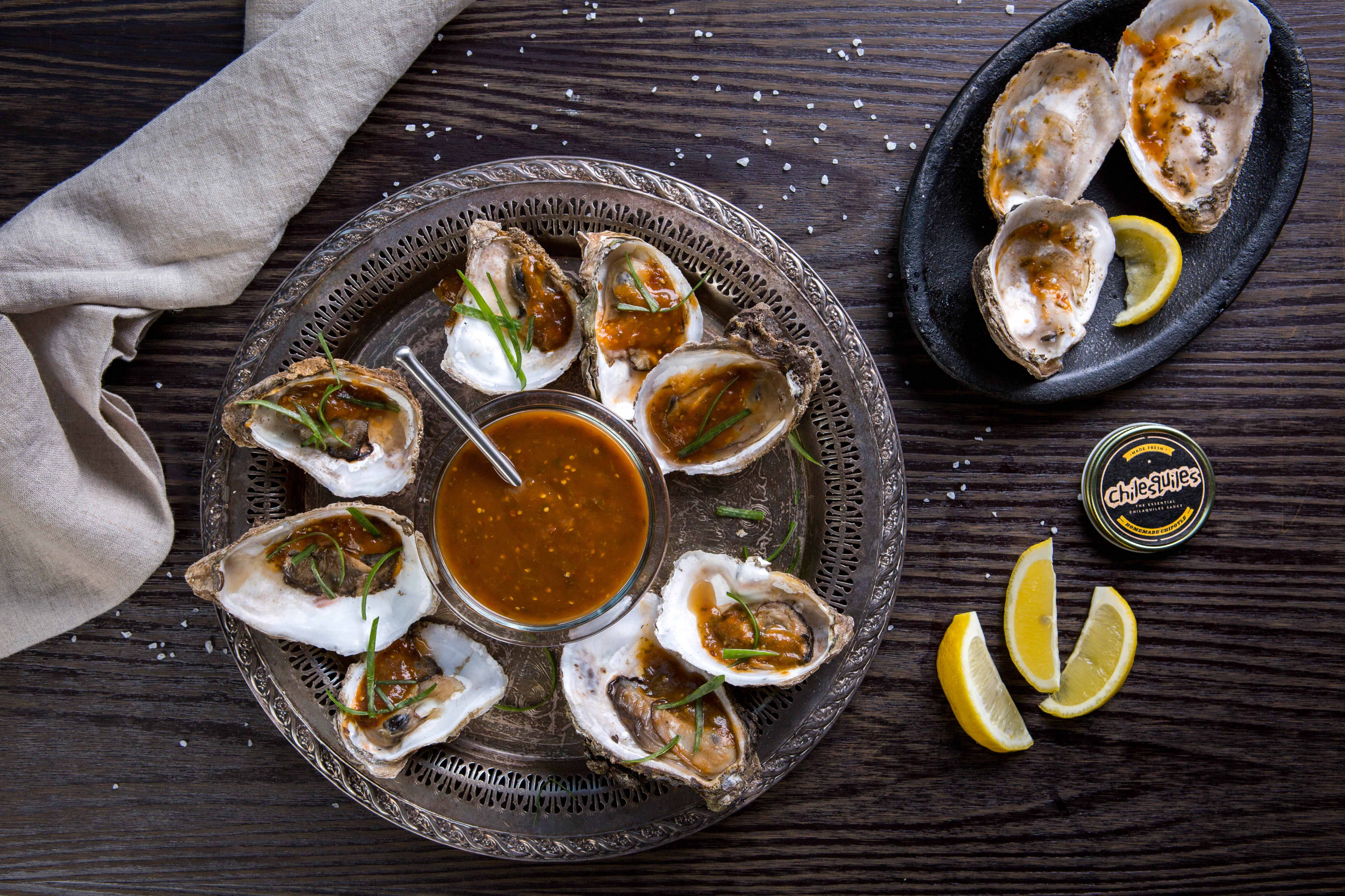 OYSTERS WITH HOMEMADE CHIPOTLE